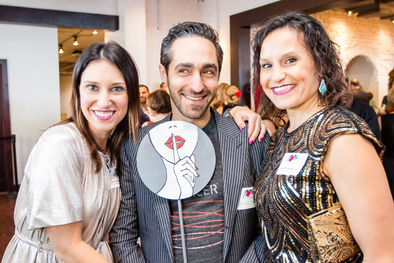 Jenna Benn Shersher, David Shersher and Jennifer Katz Margolis at Brushes with Cancer Austin
