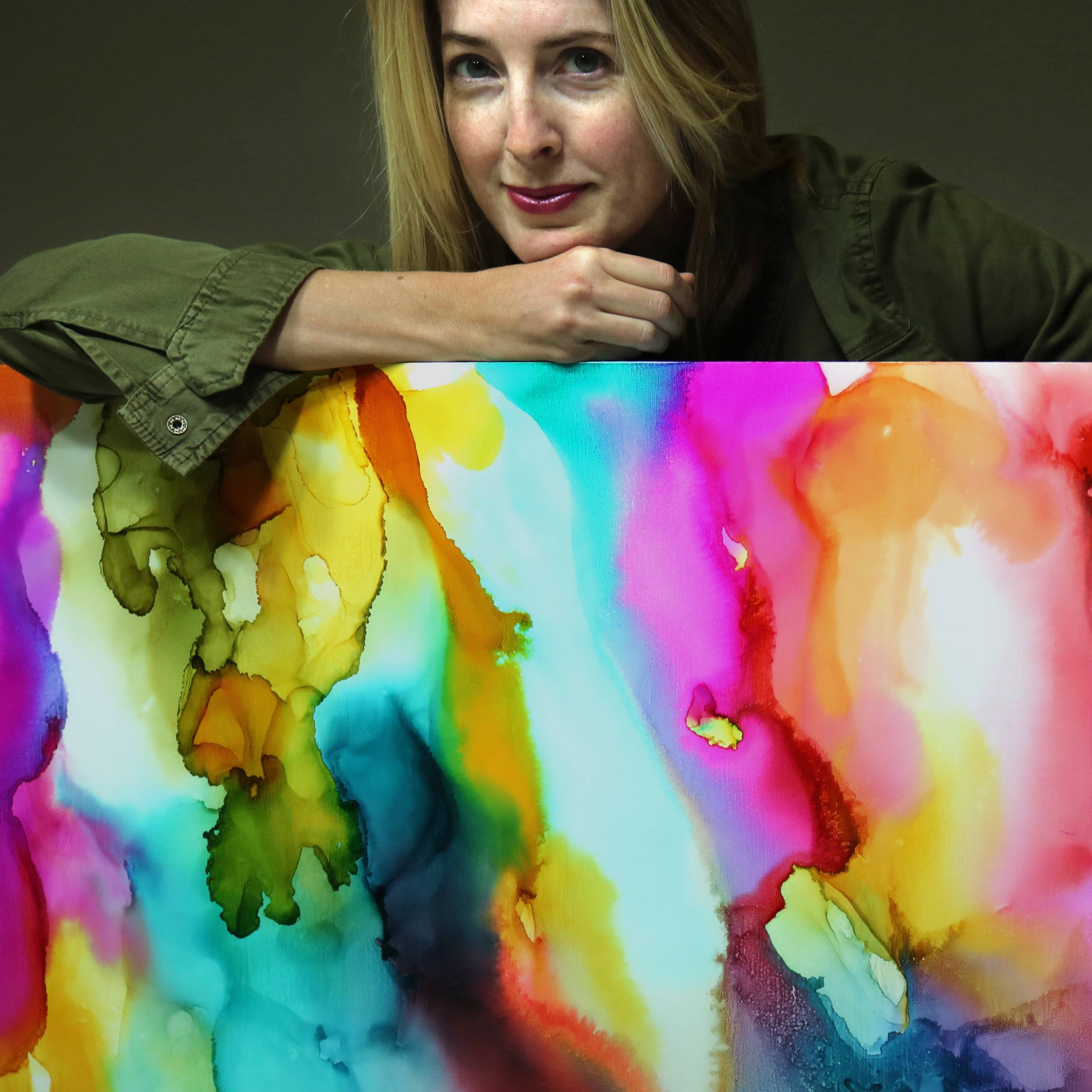 When Art Finds You: Julie Pelaez's Journey with Alcohol-ink Painting